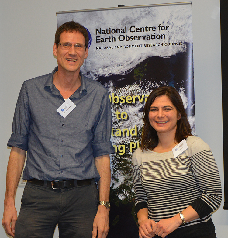 Researchers' Forum 2018 Workshop leader Briony Turner with Divisional Director Peter Jan van Leeuwen